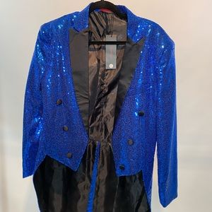 Other - Blue Sequin Party Blazer